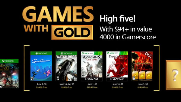 Xbox Live Gold giveaway games for Jun 2017